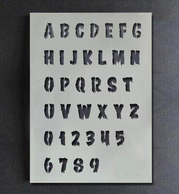 Halloween Schablone Alphabet A-Z 0-9 Buchstaben Zahlen Malen Gestalte ()