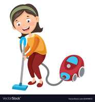 Professional housekeepers/cleaners.