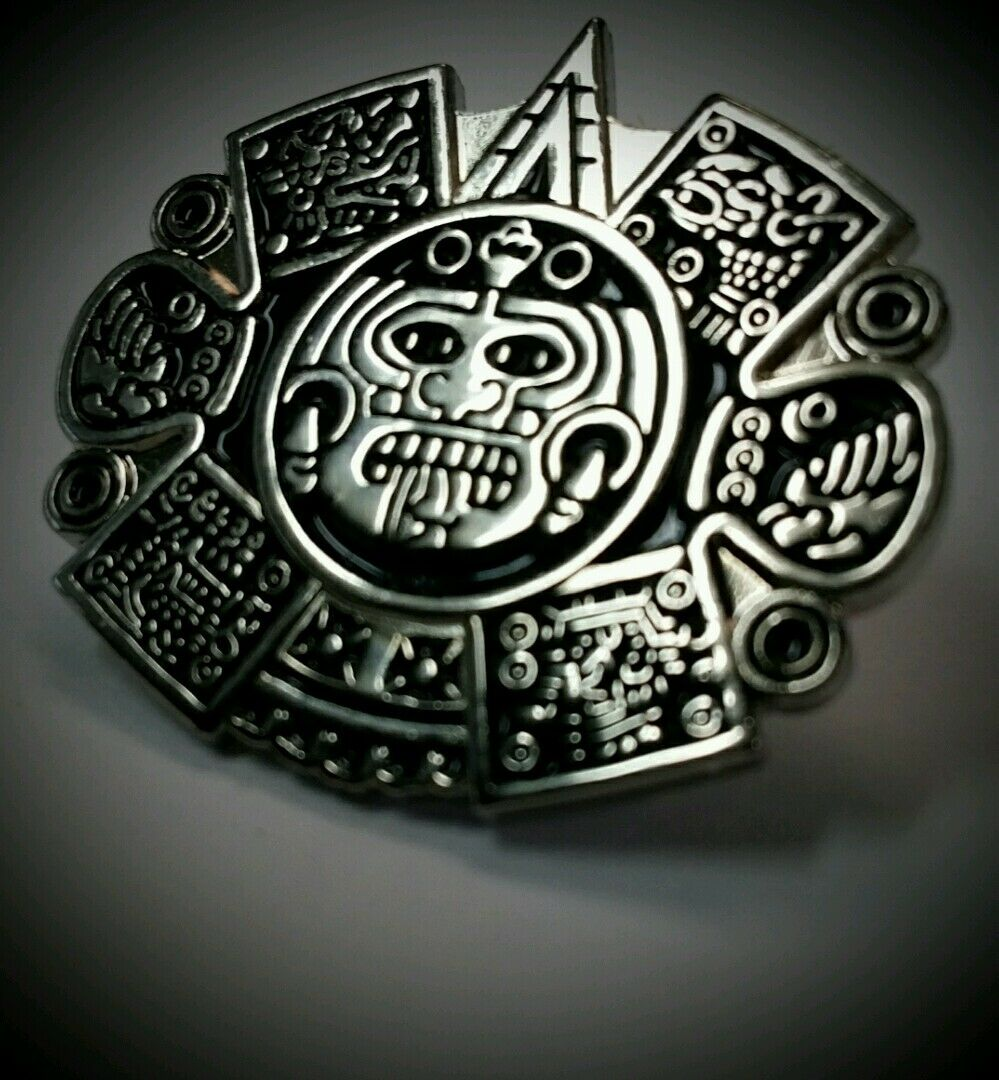 b643727852902 Chicano Mens Lowrider Hat Fedora Vintage Aztec Sun God Silver Button Badge  Pin - 282624124172 - (США)