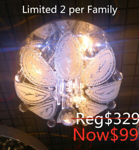Brand new remote ceiling crystal chandelier