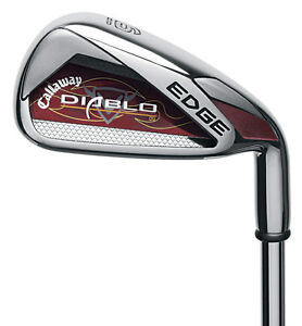 RH-CALLAWAY-DIABLO-EDGE-R-IRONS-4-PW-AW-STEEL-UNIFLEX-NEW