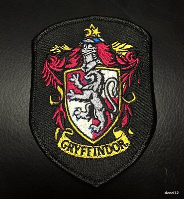 Gryffindor patch Harry Potter House TOP QUALITY IRON ON book Costume Halloween