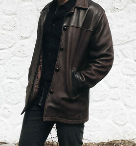 Leather Coat Men's