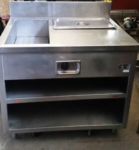 RESTAURANT EQUIPMENT TWO TRAY HOT / STEAM TABLE FOR SALE