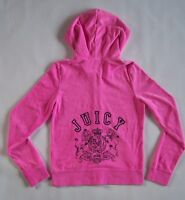 Juicy Couture Womens Pink Velour Zip Hoodie Jacket Size Large