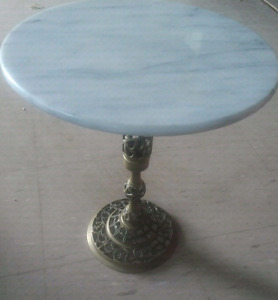 vintage brass and marble table