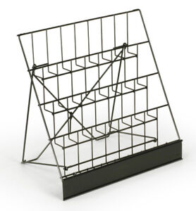 """Four-4-Tier-Wire-Rack-Display-Magazine Stand/CD 2-1/2""""d Pockets"""