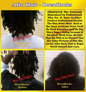 DREADLOCKS -NEW START UP, ATTACH EXTENSIONS, TREATMENT & REPAIRS