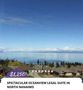 SPECTACULAR OCEANVIEW FURNISHED LEGAL SUITE IN NORTH NANAIMO