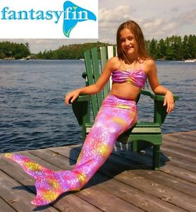 FREE BIKINI TOP! FANTASY FIN MERMAID TAIL & FIN, MADE IN CANADA