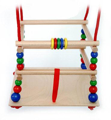 Babyschaukel, Schaukel aus Holz, Gitterschaukel, Baby, Kleinkind, Baby-Schaukel
