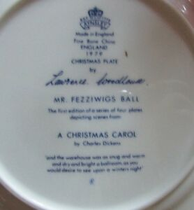 "1979 Christmas Plate ""Mr Fezziwigs Ball"" A Christmas Carol Kitchener / Waterloo Kitchener Area image 3"