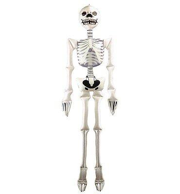 SCHELETRO GONFIABILE C/ CRAVATTA E REGGISENO 183cm Carnevale Accessori Halloween