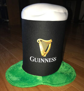 """Guiness Beer St Patricks Day Foam Hat 11"""" Tall"""