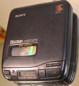 SONY D-34 DISCMAN WALKMAN PORTABLE CD PLAYER * AUDIOPHILE MODEL