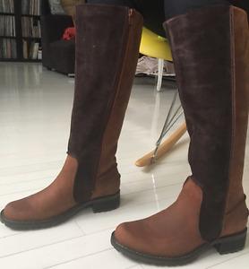 Bottes Tout Cuir Brun/Brun foncé SEBAGO Brown Leather Boots