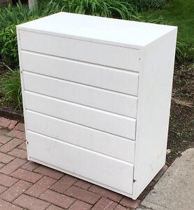 White, solid wood, 6-drawer dresser - pickup on Gilmour Steet