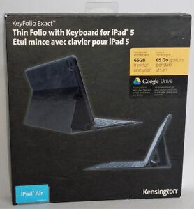 Kensignton KeyFolio Exact iPad Air iPad 5 w Removable Keyboard