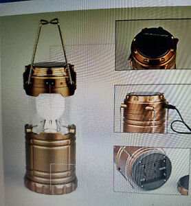 Lantern - Solar or battery powered