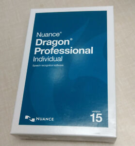 Nuance Dragon Professional Individual 15 NEW IN BOX (Unopened)