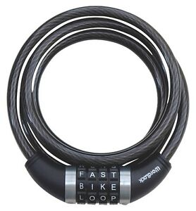 WORDLOCK Bicycle Coil Resettable Word Cable Lock - 6' x 12mm