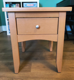 Sturdy wooden side coffee table drawer unit