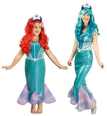 Fisch Ariel Nixe Meerjungfrau Kostüm Arielle Prinzessin Wasser Fee Kleid Mermaid