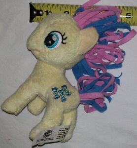 Plush My Little Pony Yellow with Twisted Candy Wrapper Mark