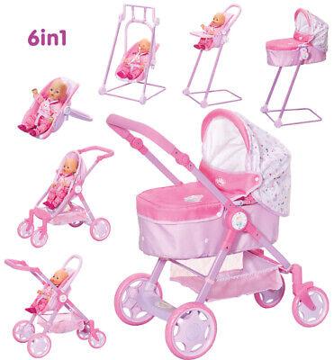 Zapf Creation Baby Born Puppenwagen Evolve Travel System 6in1 (Rosa-Lila)