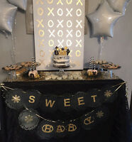 Dessert table decor and rentals cake stands