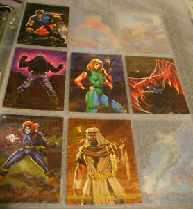 1993 Marvel Masterpiece Cards Complete Set w/6 of 8 Spectra Etch