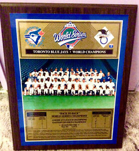 1993 Toronto Blue Jays Back to Back World Series Champion Plaque