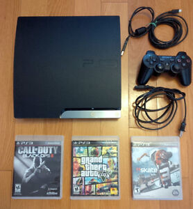 Playstation 3 PS3 160GB w/ 3 Games - Excellent Condition