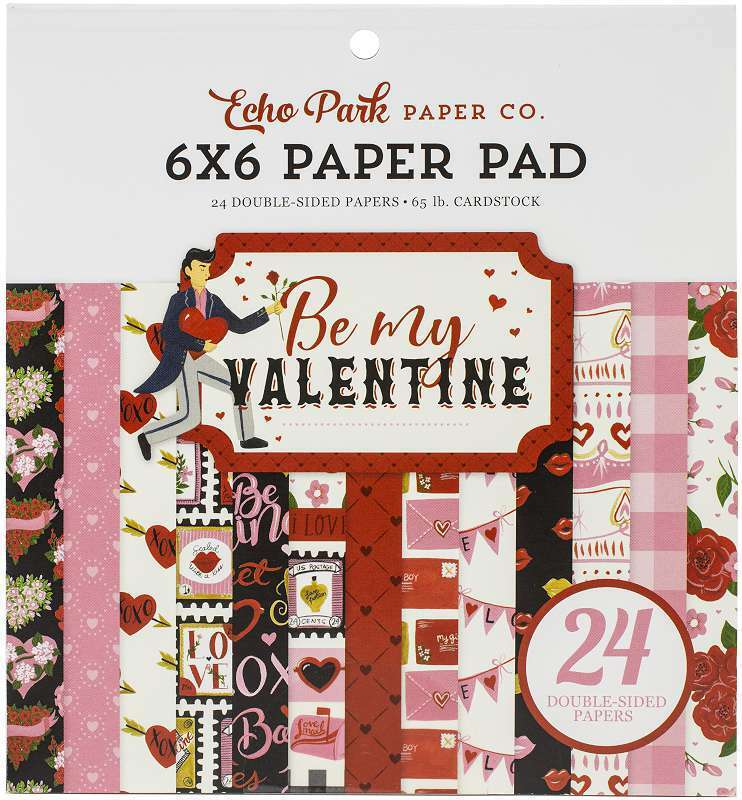 """Echo Park Double-Sided Paper Pad 6""""X6"""" 24/Pkg Be My Valentine, 12 644216278466"""