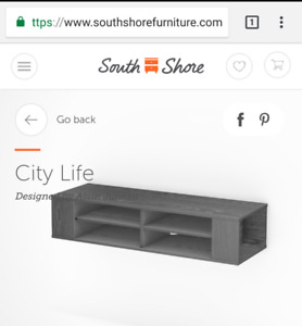 Brand New Sealed Box SouthShore TV Console on SALE.