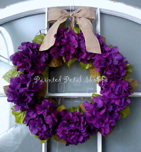 Plum Hydrangea Wreath/Spring/ Easter/ Wedding Decor