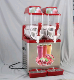 New Commercial Double Slush Maker Machine Stock