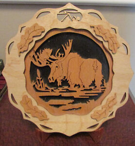Wooden Moose Picture.