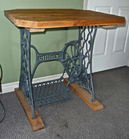 Desk/Work-Station on Antique Singer Sewing Machine base.