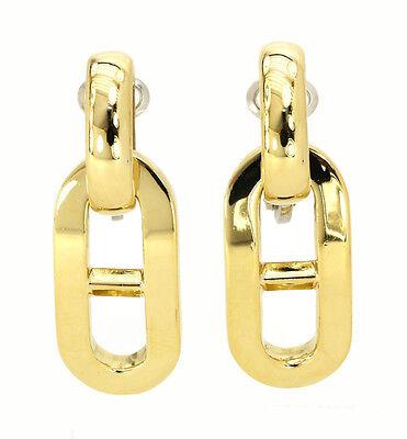 Ladies Estate 18K Gold Designer  Bulgari Link Earrings BVLGARI   18 grams