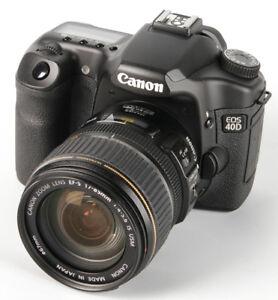 Camera Digitale Canon 40D avec l'objectif 17-85mm IS USM