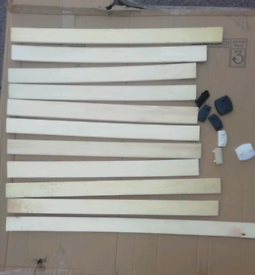 Bed Wooden Slat's £2 each. Plastic Connector 50p each. Bed Frame PARTS