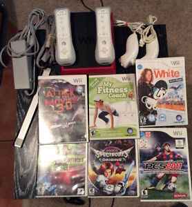Nintendo Wii Mini With 2 Controllers and 6 Games!!