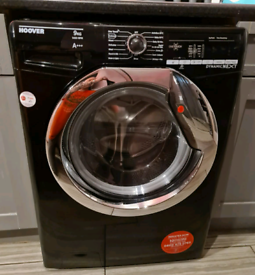 Hoover Dynamic next black washing machine 9kg 1400 spin excellent cond