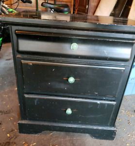 Black 3 drawer dresser