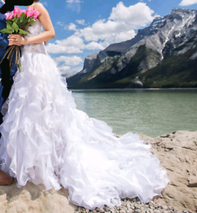 Corset Wedding Dress with Train *** WILL FIT ALL SIZES ***