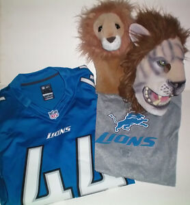 Lions #44 Jersey, Speedwick T Shirt, Mask and Golf Head Cover