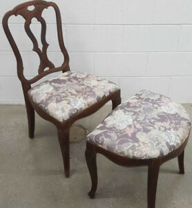 Vintage Chair & Foot Stool