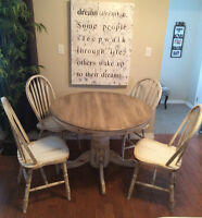 REFURBISHED TABLE AND CHAIRS!!