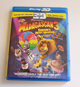 Madagascar 3 Europe's Most Wanted - Blue Ray 3D, Blue Ray & DVD St. John's Newfoundland image 1